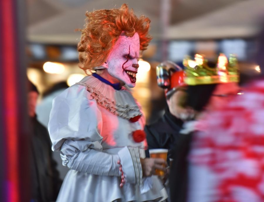The nightmarish clown Pennywise roamed Nightmare on Chicago Street in Elgin on Saturday night. Police Deputy Chief Al Young said the event overall went very well with minimal disturbances that were quickly dispersed.