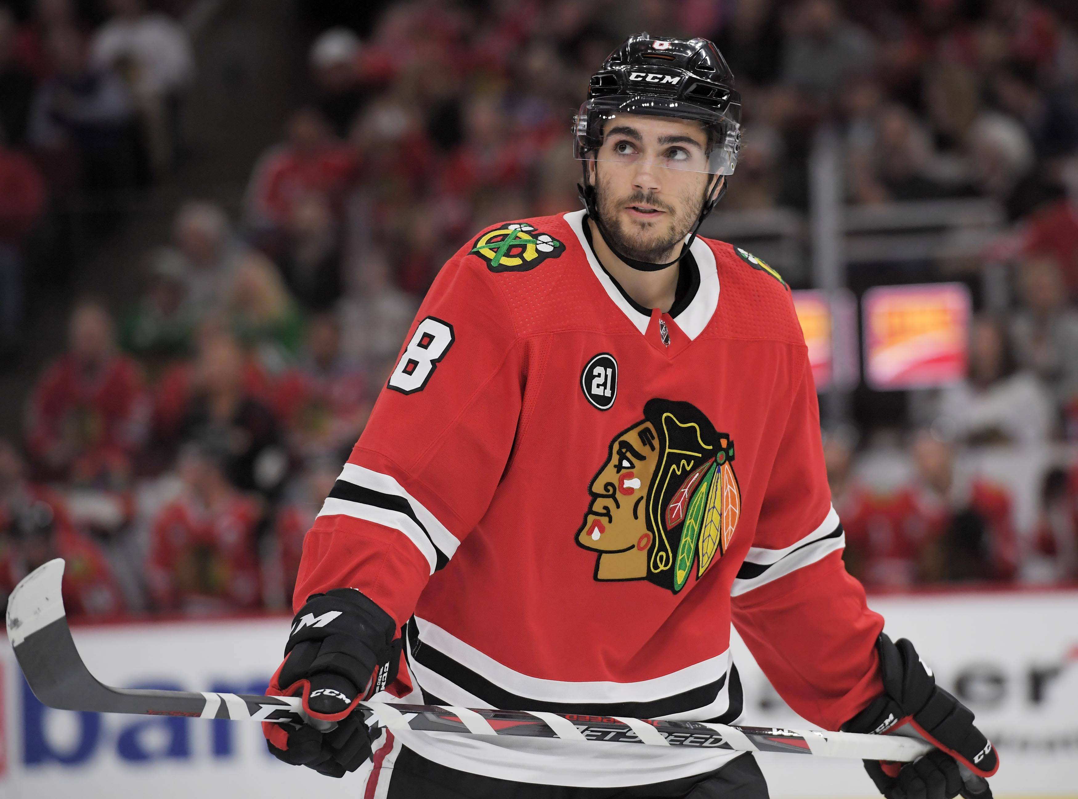 Blackhawks center Nick Schmaltz said he needs to work on shooting the puck more.
