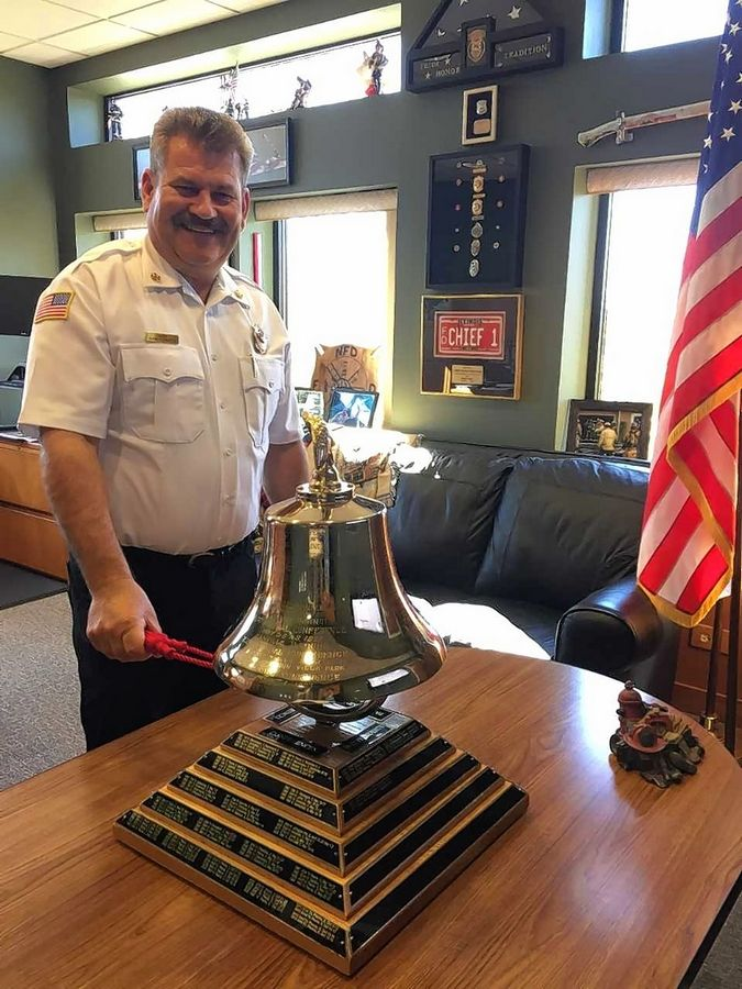 Naperville Fire Chief Mark Puknaitis recently was named president of the Illinois Association of Fire Chiefs. He said he relishes the ability to represent Naperville in a statewide leadership role.