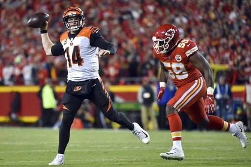 Bengals' offense in skid heading into midway point