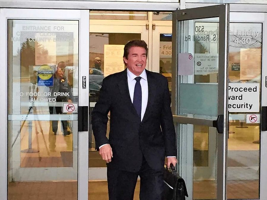DuPage Judge Patrick O'Shea leaves a Kane County courthouse last November, before his trial on reckless conduct charges.