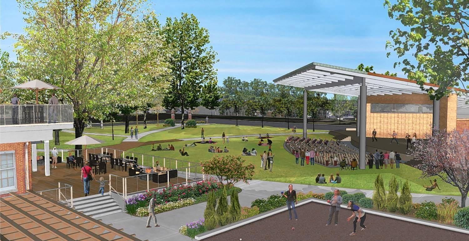 New band shell, major redesign in store for Wheaton's oldest park