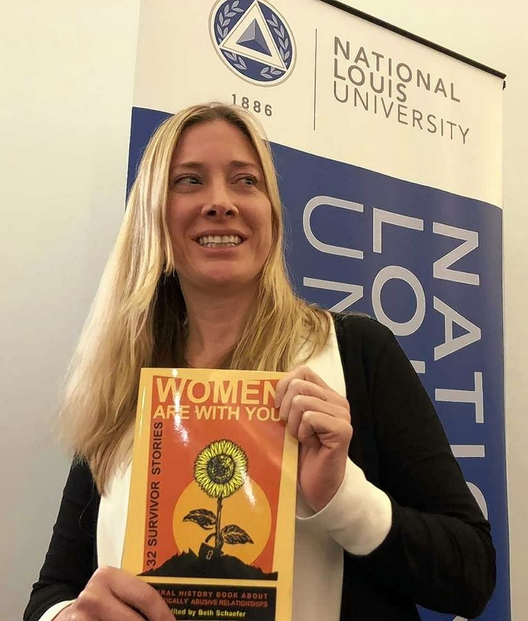 An award-winning professor at National Louis University, Grayslake native Beth Schaefer interviewed 31 women and used her own experience for a book about women who survived domestic abuse. October is Domestic Violence Awareness Month.