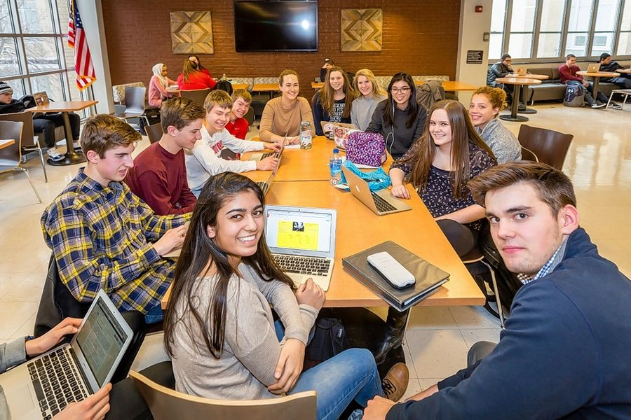 Barrington High School has been named an Apple Distinguished School for 2018-21. Every student receives a MacBook Air 11-inch laptop computer to use.