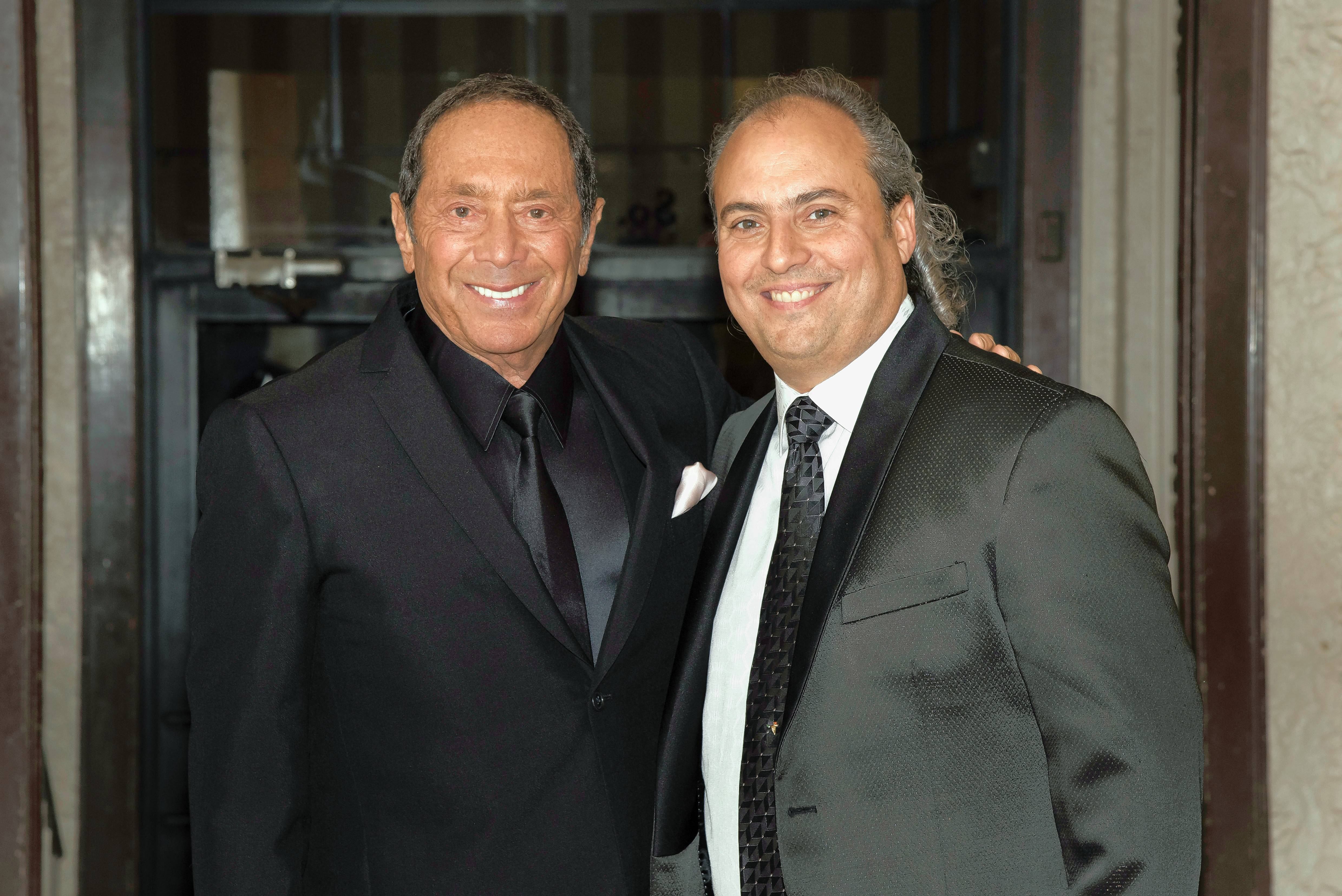Singer and songwriter Paul Anka, left, recently performed two shows at Ron Onesti's Arcada Theatre in St. Charles.