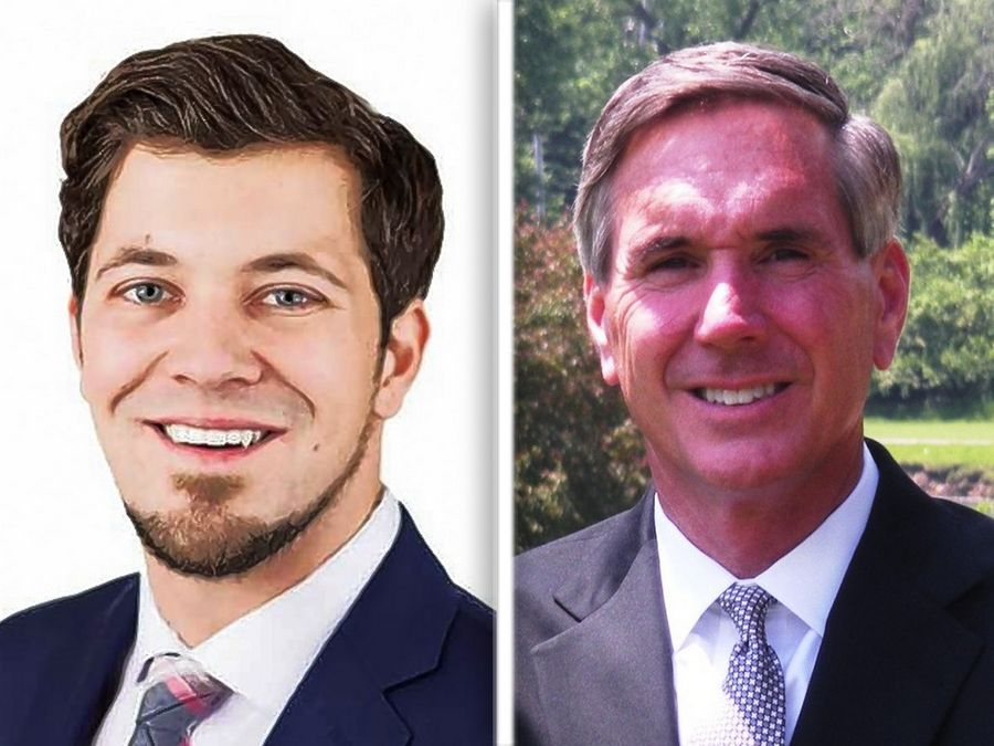 Democrat Kevin Morrison, left, and GOP incumbent Timothy Schneider, right, are candidates for Cook County Board District 15.