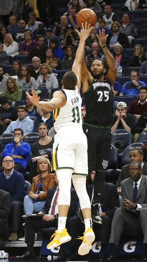 competitive price 3c237 fb362 Rose scores career-high 50 as Timberwolves top Jazz 128-125