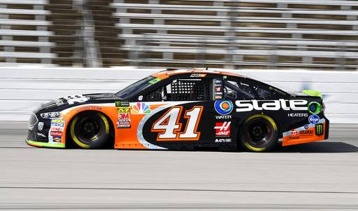Monster Energy NASCAR Cup Series driver Kurt Busch heads down the front stretch during a practice