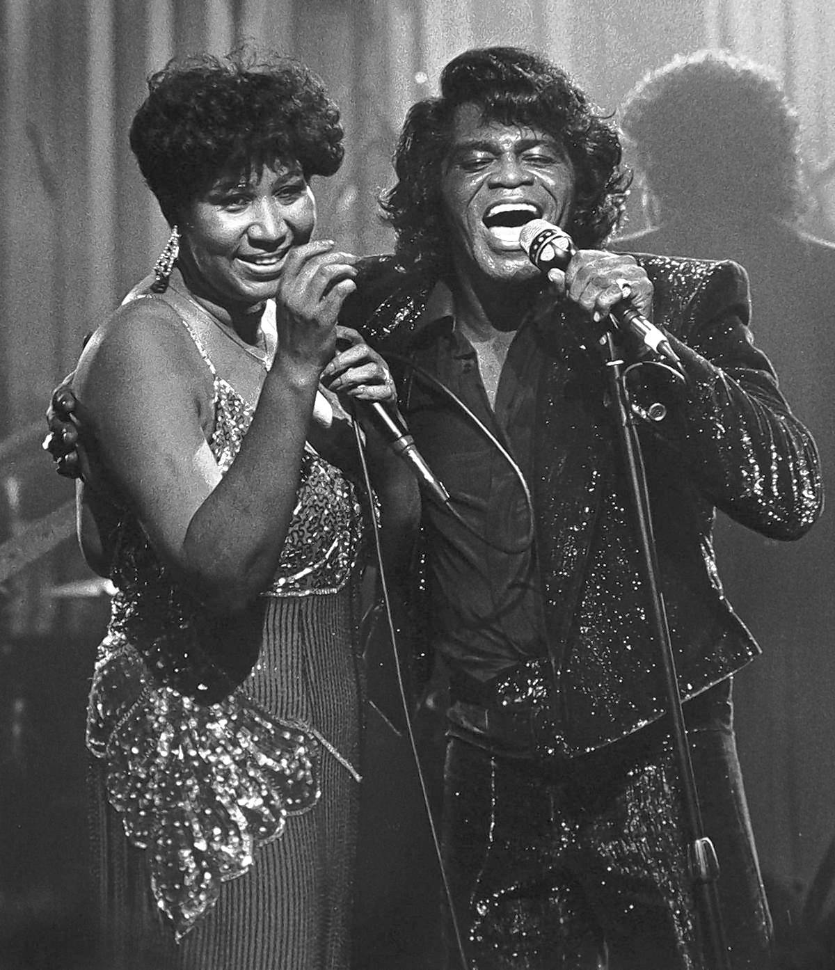 Aretha Franklin and James Brown — so much soul on one stage.