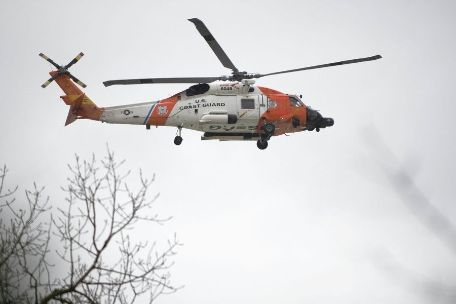 U.S. Coast Guard searches for a woman who is missing Sunday in Lake Michigan near Highland Park.