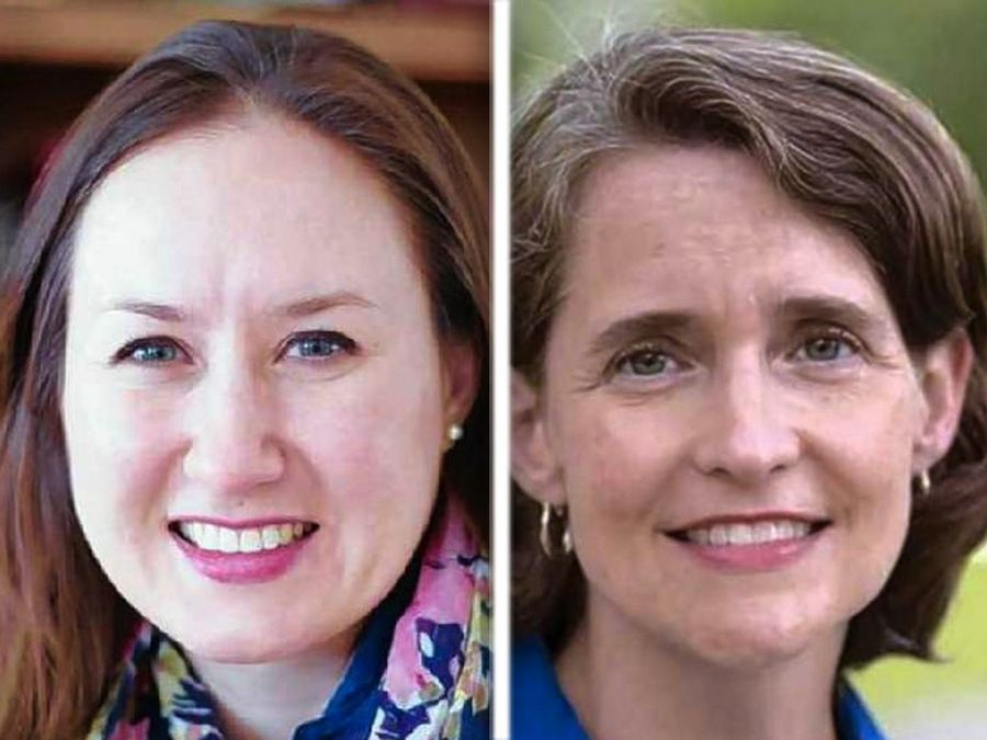 Republican challenger Jillian Bernas, left, and Democratic state Rep. Michelle Mussman are candidates in House District 56.