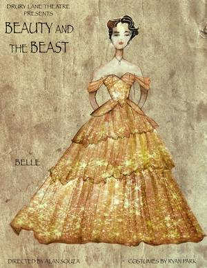 "Costume designer Ryan Park put his own spin on Belle's yellow ballgown for Drury Lane Theatre's production of ""Disney's Beauty and the Beast."""
