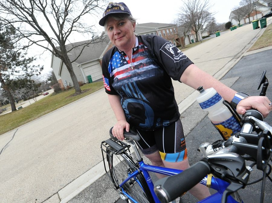 Navy veteran Tracy Sefcik of Wheeling plans to complete a 2,500-mile bicycle trip in August 2021 to raise funds for the Oscar Mike Foundation. She has already finished a 3,000-mile cross-country trip to support veterans.
