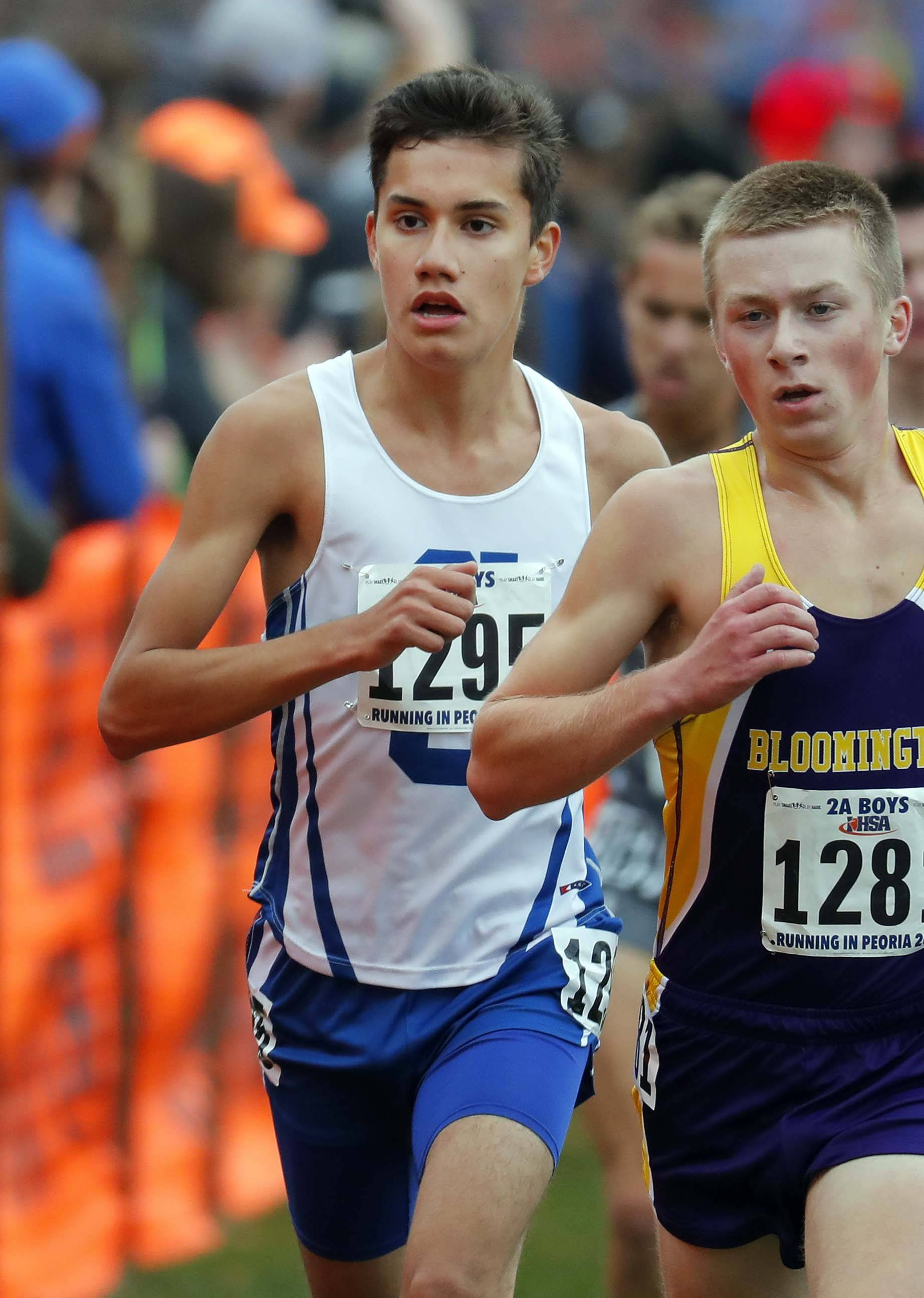 Burlington Central's Anthony Farmer finished third in the Class 2A state meet Saturday.