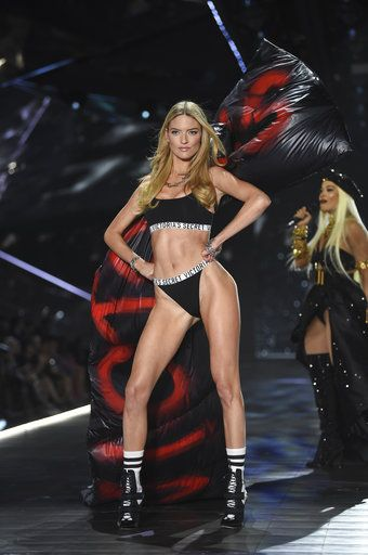 Model Martha Hunt walks the runway during the 2018 Victoria's Secret Fashion Show at Pier 94 on Thursday, Nov. 8, 2018, in New York. (Photo by Evan Agostini/Invision/AP)
