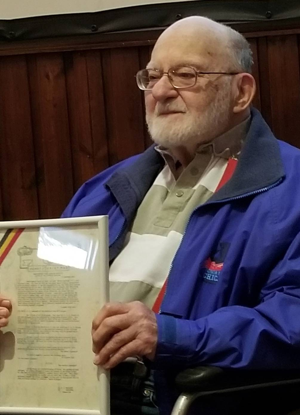 In September, Schaumburg resident Bernie Bluestein was honored for his service during World War II by the Belgian Army. Bluestein, 95, served in the Ghost Army during the war.