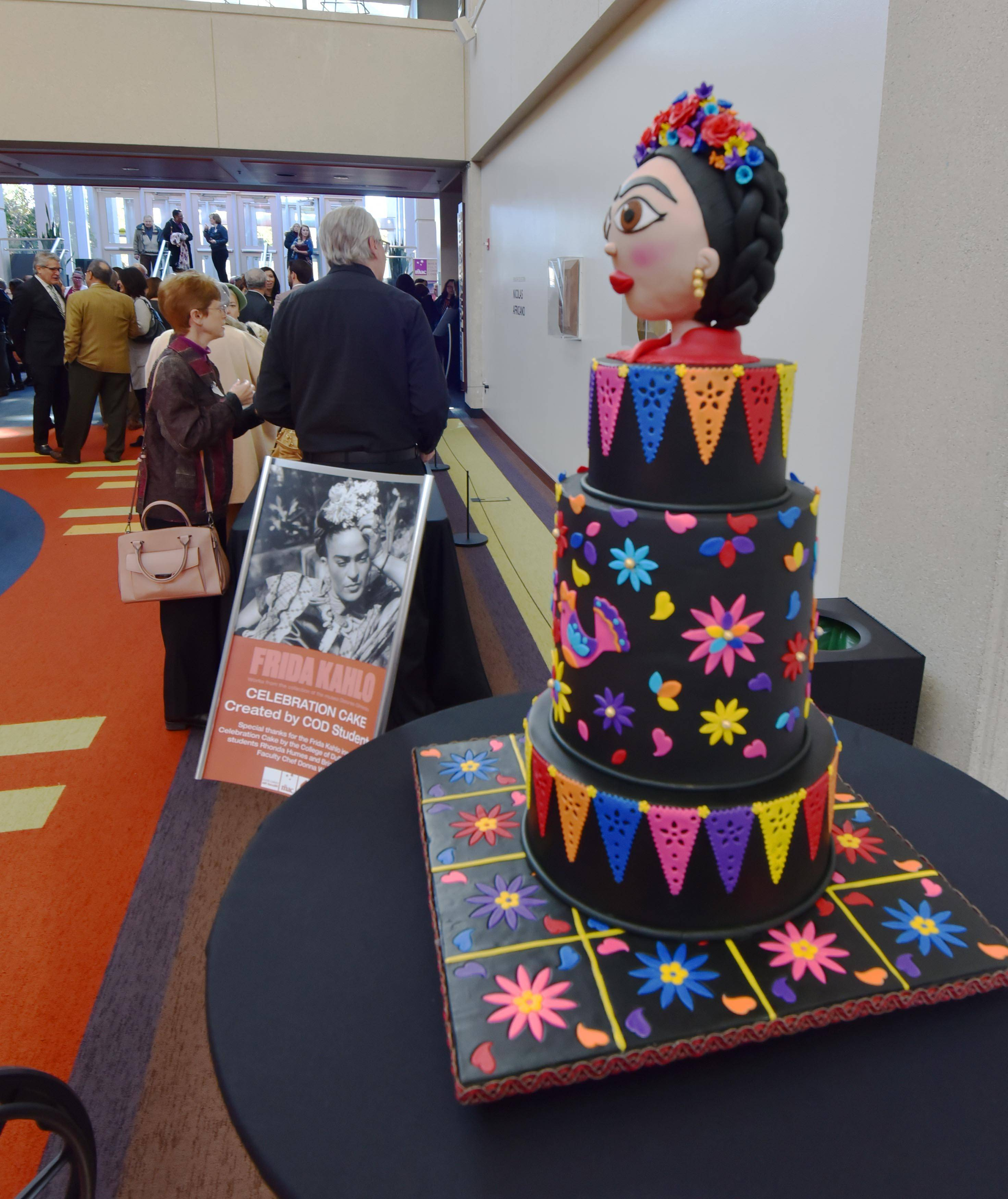 A Celebration Cake made by College of DuPage students was part of the reception.