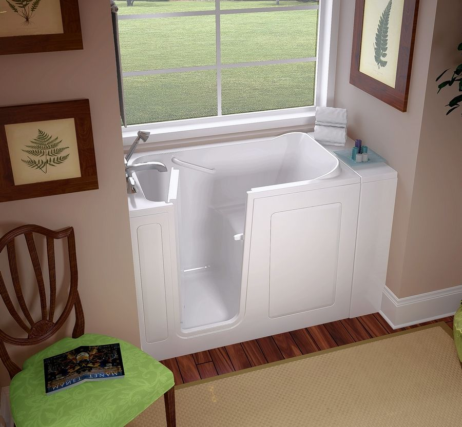 Walk-in bathtubs make it easier for seniors to remain in their homes. They are also useful for multigenerational families when an elderly parent moves in with an adult son or daughter.