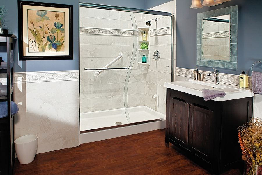 Ease of access is one of the main advantages to replacing a bathtub with a walk-in shower.