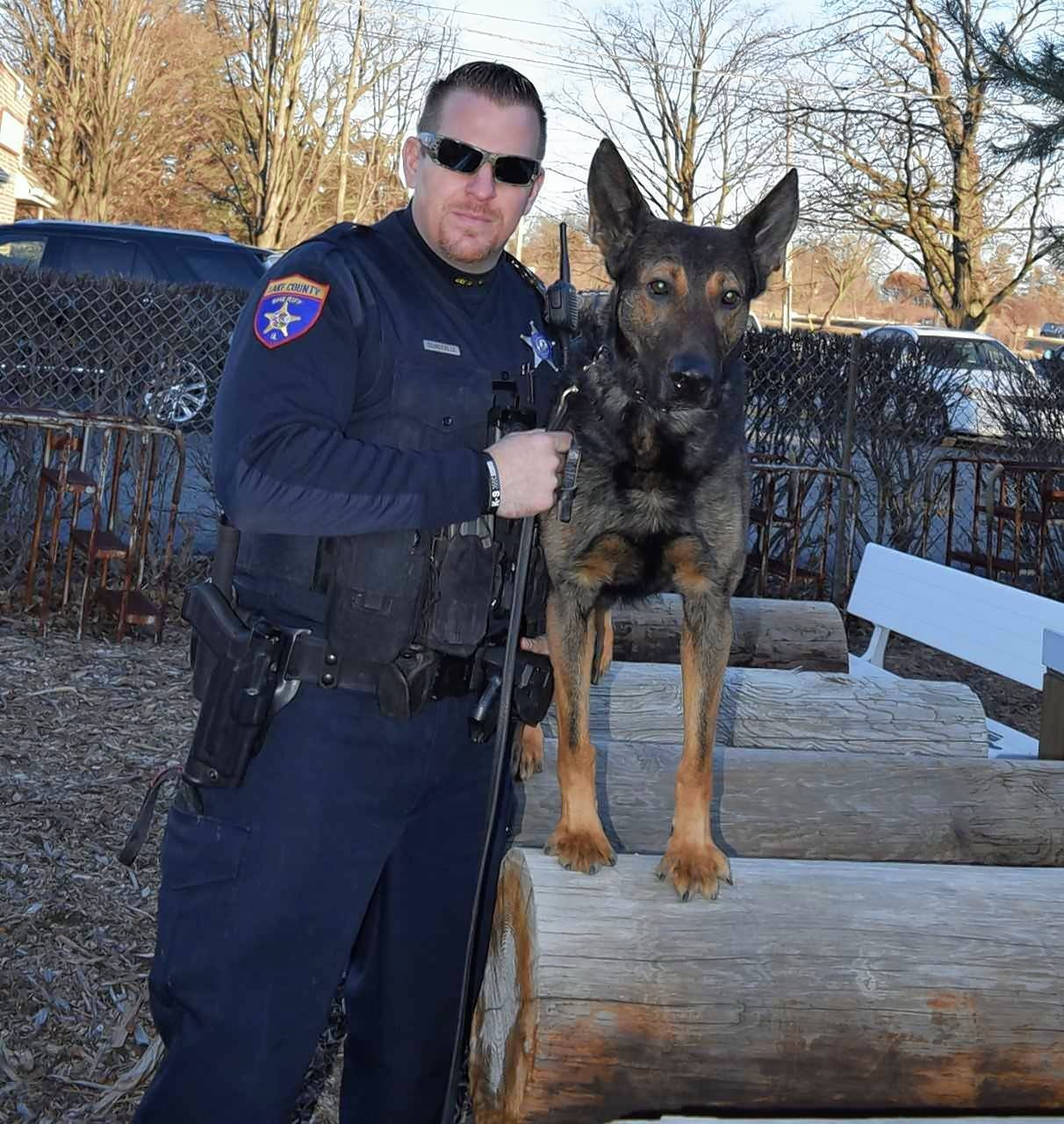 Lake County Sheriff's Deputy Craig Sommerville and canine partner Diesel located a missing juvenile Sunday who was stuck in a retention area and showing early indications of hypothermia.