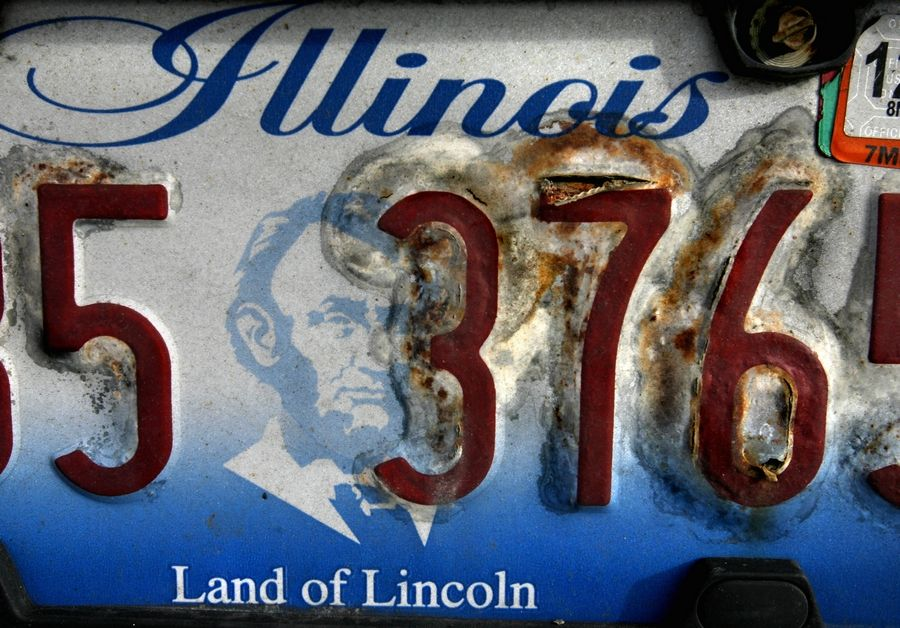 What do you do with old plates? You can turn them in at an Illinois secretary of state facility to be recycled.