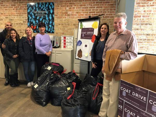 Berkshire Hathaway HomeServices KoenigRubloff Realty Group collects 500 coats for DuPage PADS.