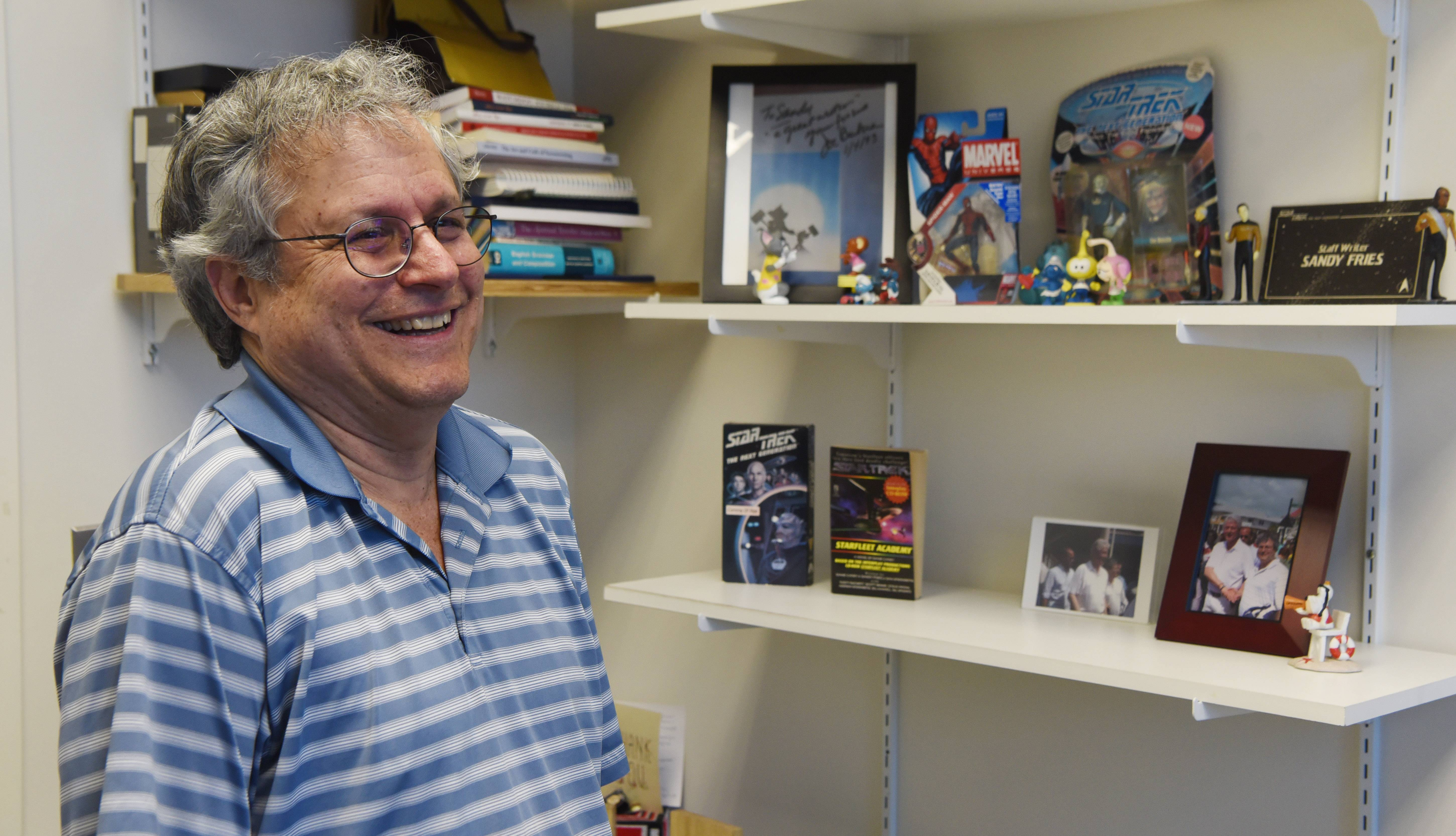"Sandy Fries reminisces about his time working with the late Stan Lee as a writer for Marvel's animated ""Spider-Man."" Fries now teaches film and mass communication at the College of DuPage in Glen Ellyn."