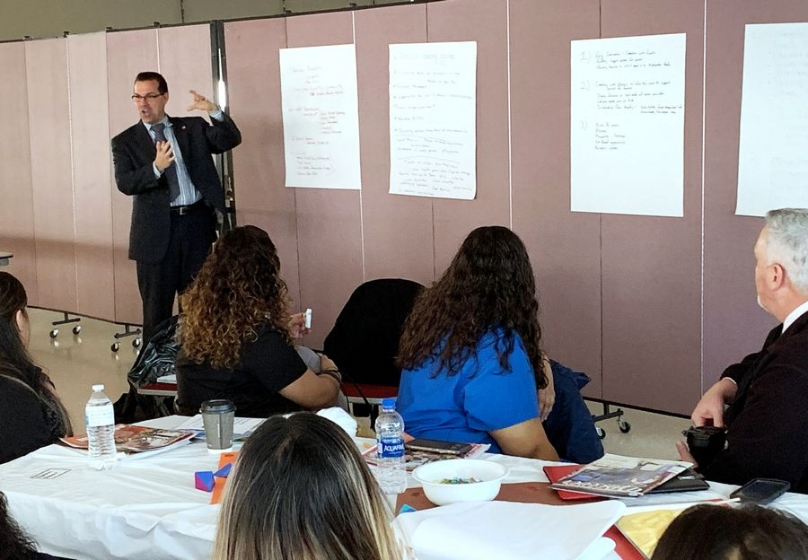 Round Lake Unit District 116 Superintendent Donn Mendoza and the BEST kindergarten readiness committee on Tuesday kicked off the Mountaintop Project, a new initiative to increase the readiness of students entering kindergarten.