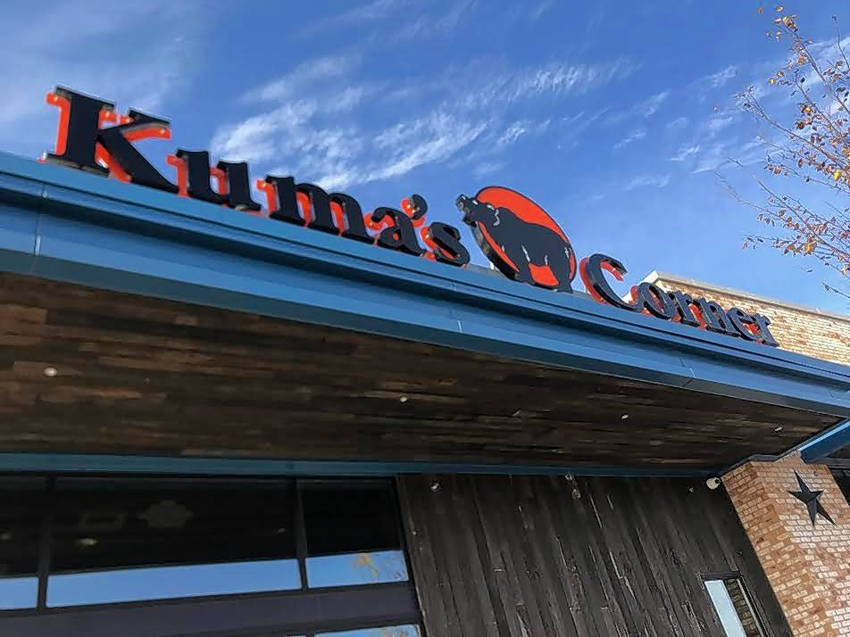 The newest Kuma's Corner made its public debut with a ribbon-cutting ceremony Tuesday, at Mellody Farm in Vernon Hills, a $200 million mix of retail and luxury apartments developing at the northeast corner of Route 60 and Milwaukee Avenue.