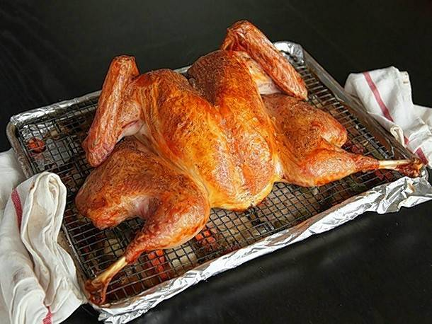 A golden brown, spatchcock roasted turkey is so much more than shining centerpiece to your holiday table; it's the star of each diner's plate.
