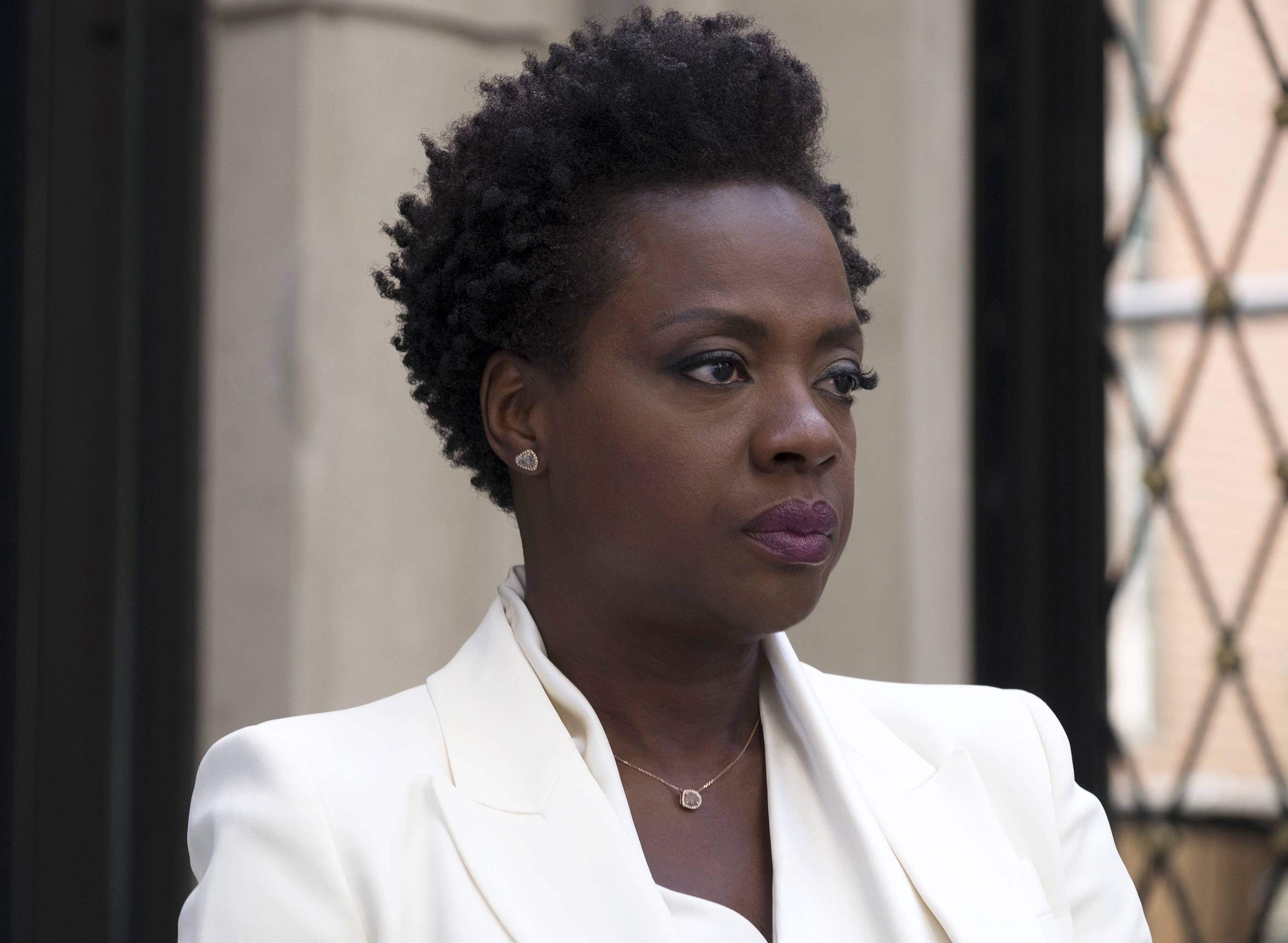 "Veronica Rawlins (Viola Davis) steps into her murdered bad-guy husband's shoes in ""Widows."""