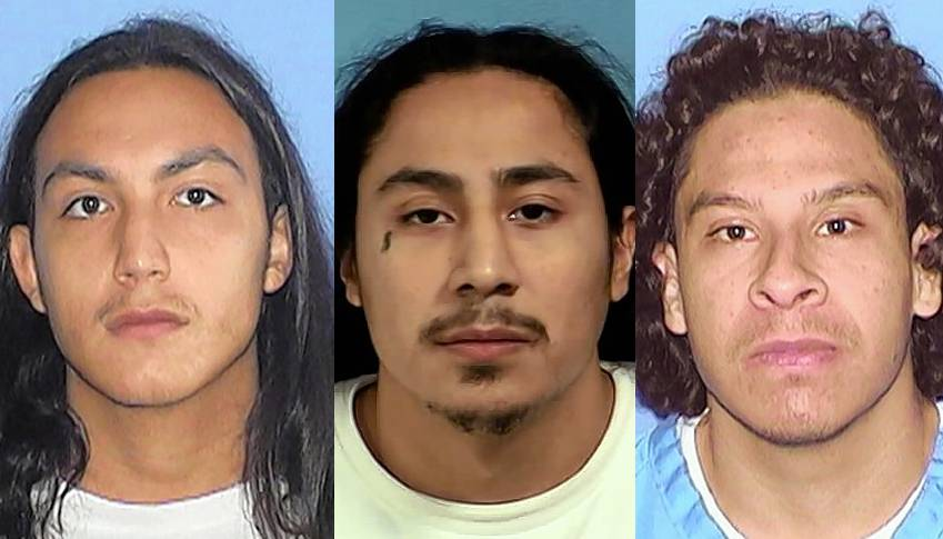 Juan Calderon, Emelio Guillen, and Fredi Bautista are all charged with the first degree murder of a West Chicago man.