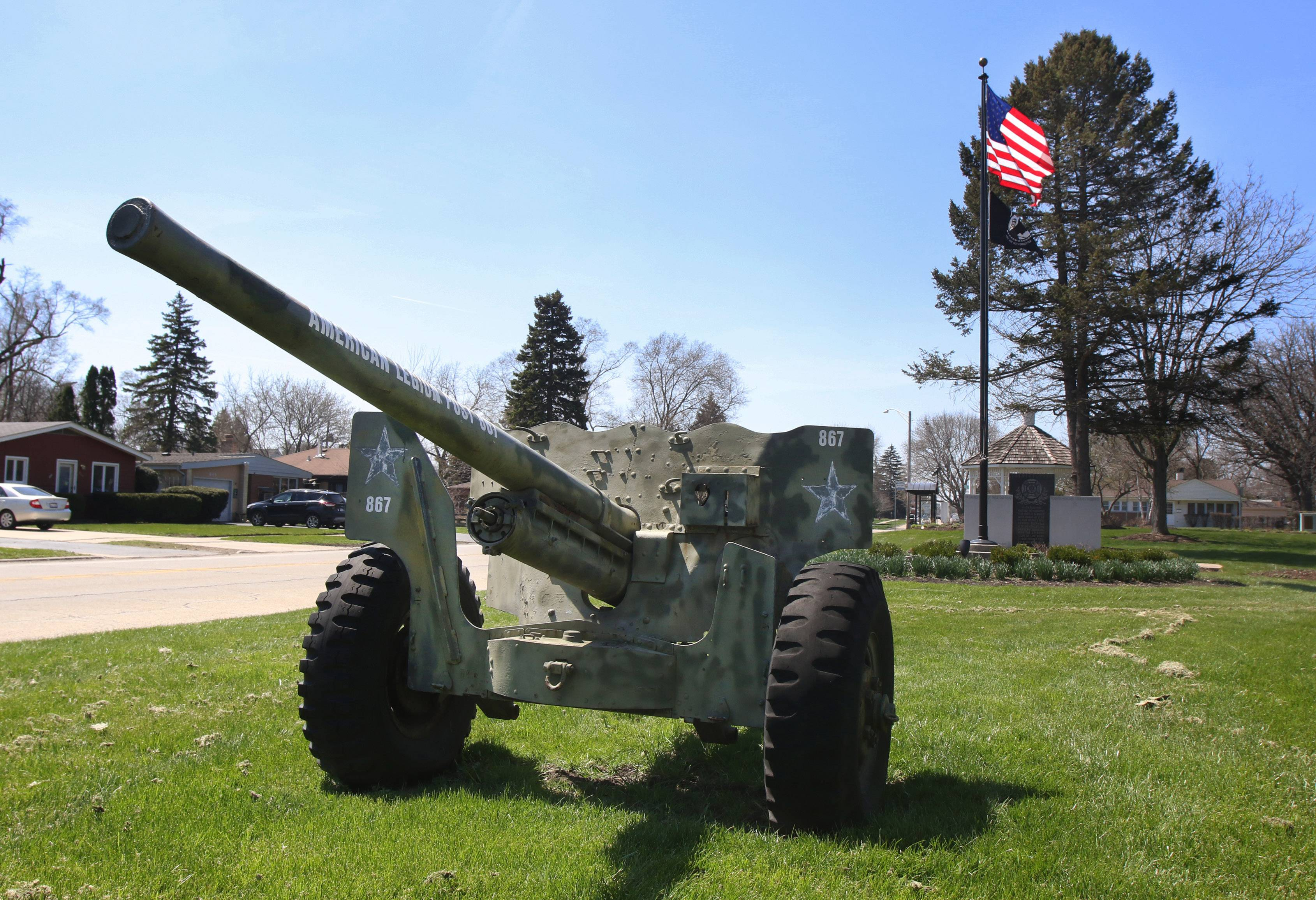 Mundelein officials are considering redesigning the military memorial at Hawley Street east of Brice Avenue. It features a monument, an anti-tank gun and other elements.