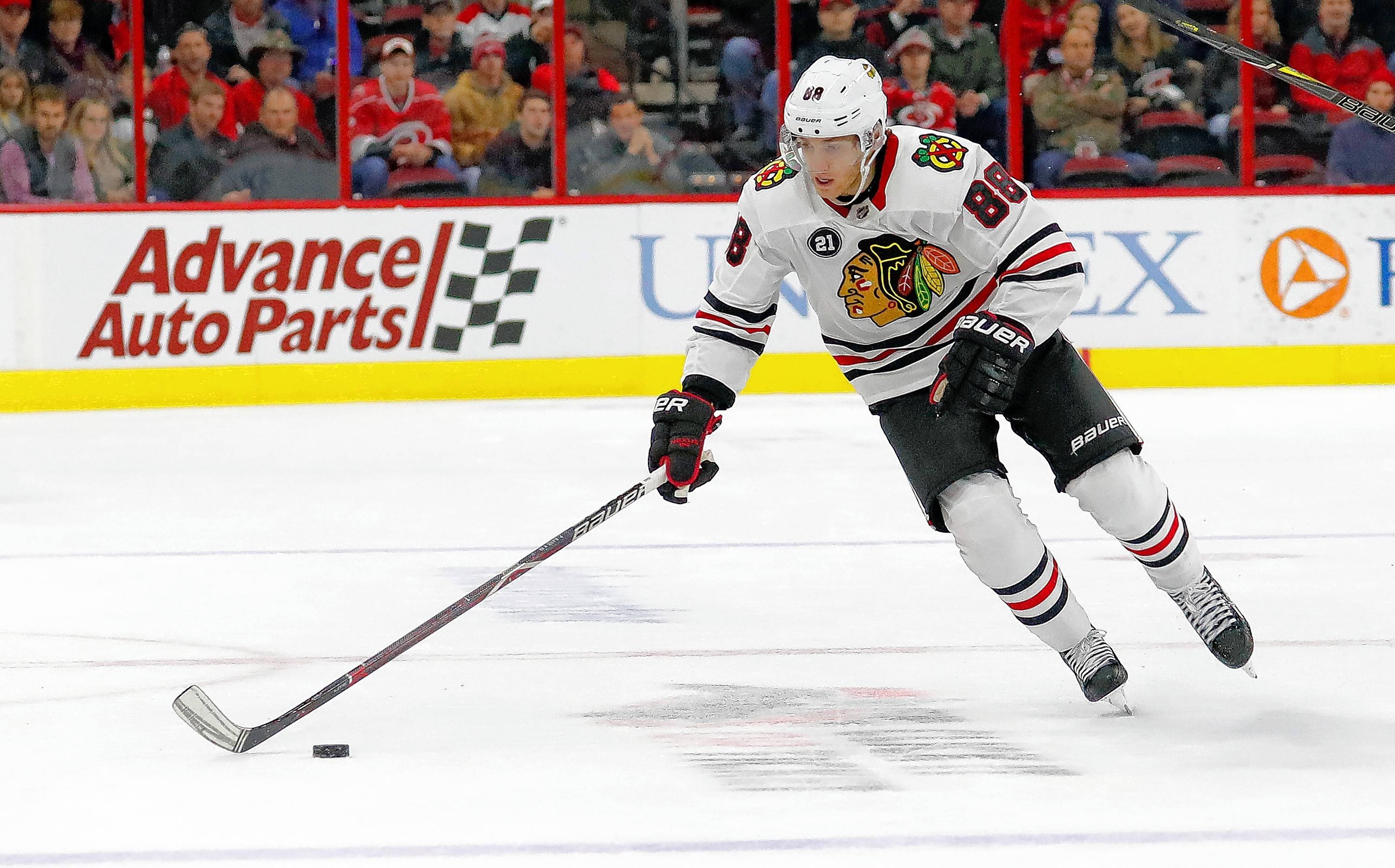 "One of the most drastic changes in how the Blackhawks are being run since Joel Quenneville was fired is coach Jeremy Colliton's double-shifting of Patrick Kane on the power play. ""I've done it with a (defenseman) before. I've never done it with a forward,"" Colliton said. ""So we'll see. I think it can work. … ""If you're in the offensive zone the whole time, it's not hard to play on the power play. If you're going back for pucks and breaking out three or four times, then, yeah, it's not going to work."""