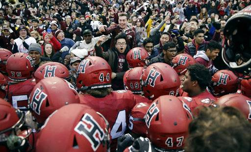 Harvard beats Yale 45-27 at Fenway Park in 135th meeting ...