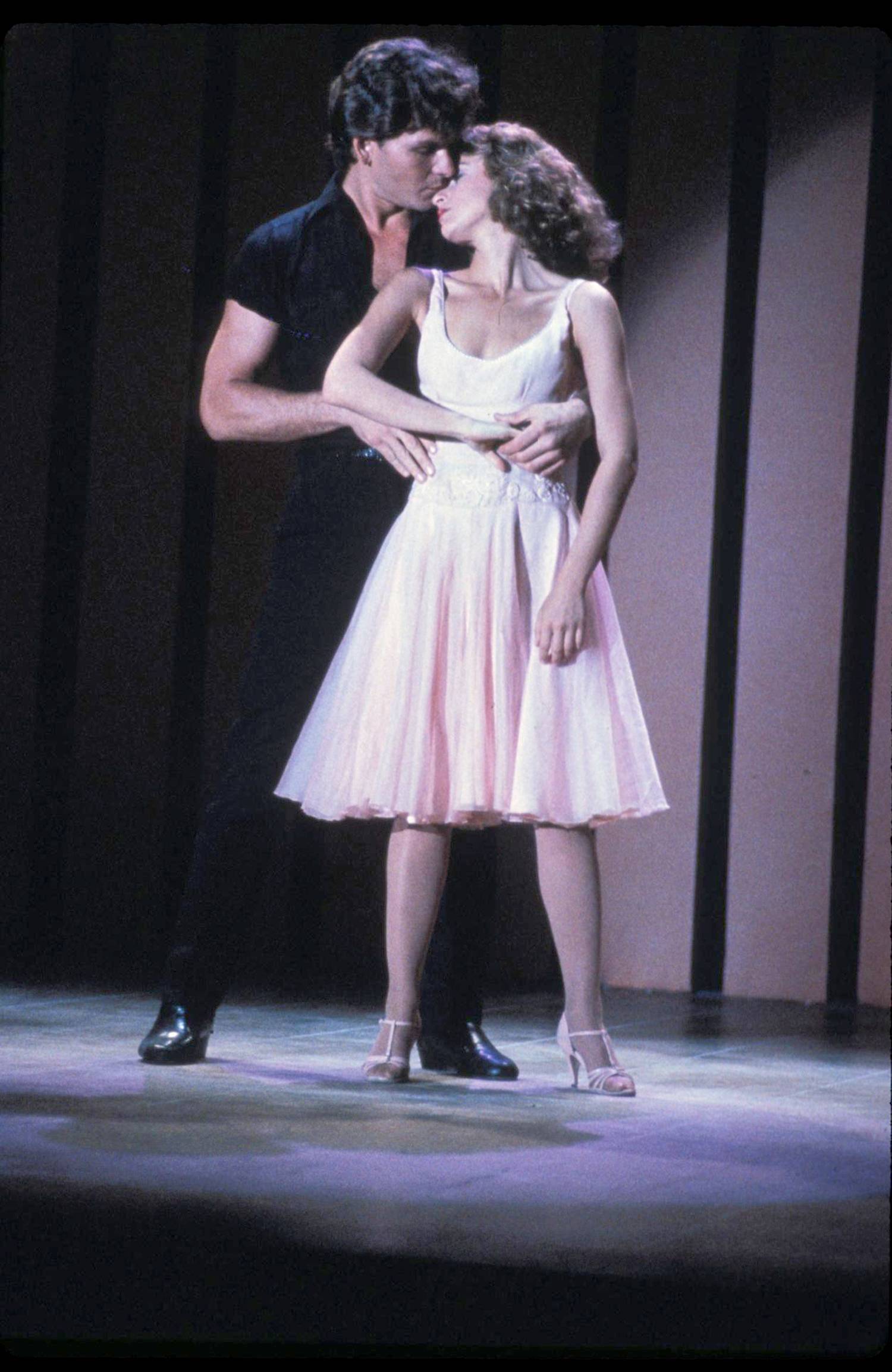 "Jennifer Grey (Baby Houseman) and Patrick Swayze (Johnny Castle) in ""Dirty Dancing."""