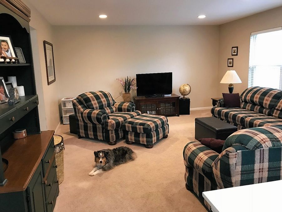 Outdated plaid furniture has taken a beating over 23 years