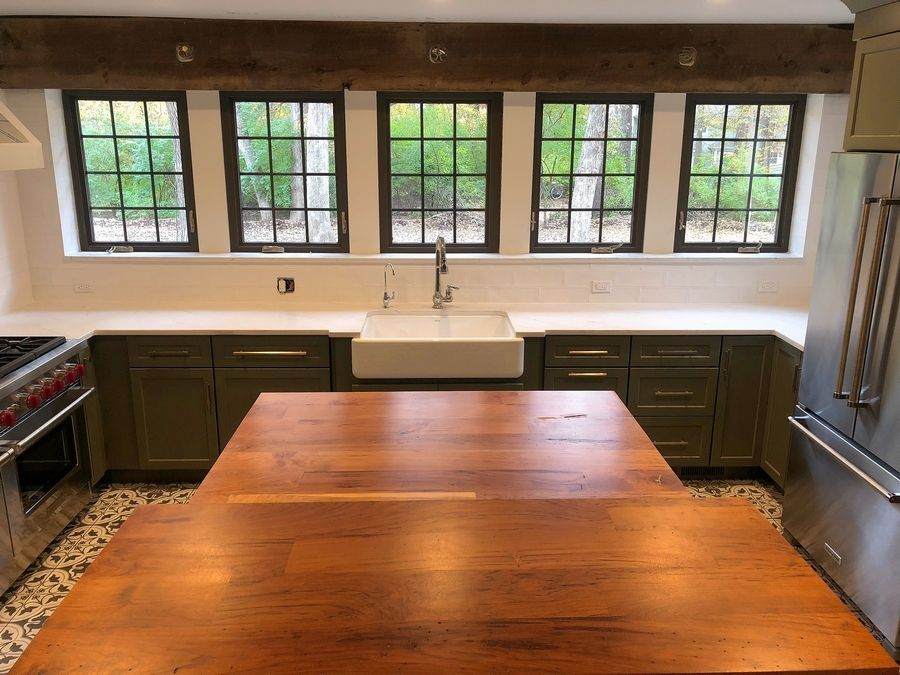 The renovated kitchen of the historic Cigrand house in Batavia. Adam Emmert said restoring an old house has a lot of surprises some good, some bad.