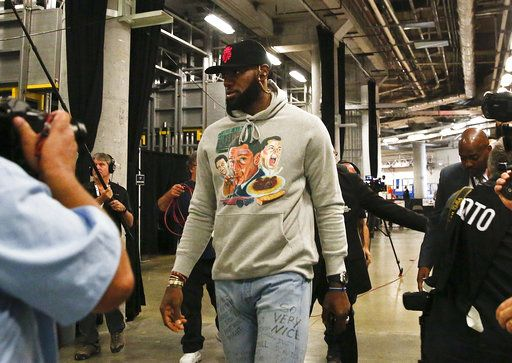 17d0c1a9a Los Angeles Lakers forward LeBron James arrives before an NBA basketball  game against Miami Heat