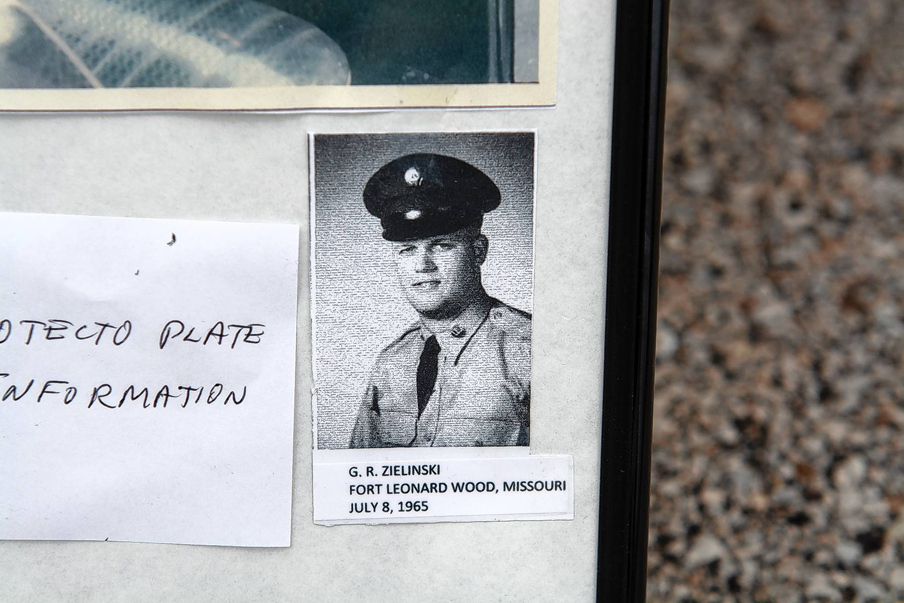 Zielinski keeps a photo of himself from his Army days in a photo album with pictures of the Pontiac from 1965.