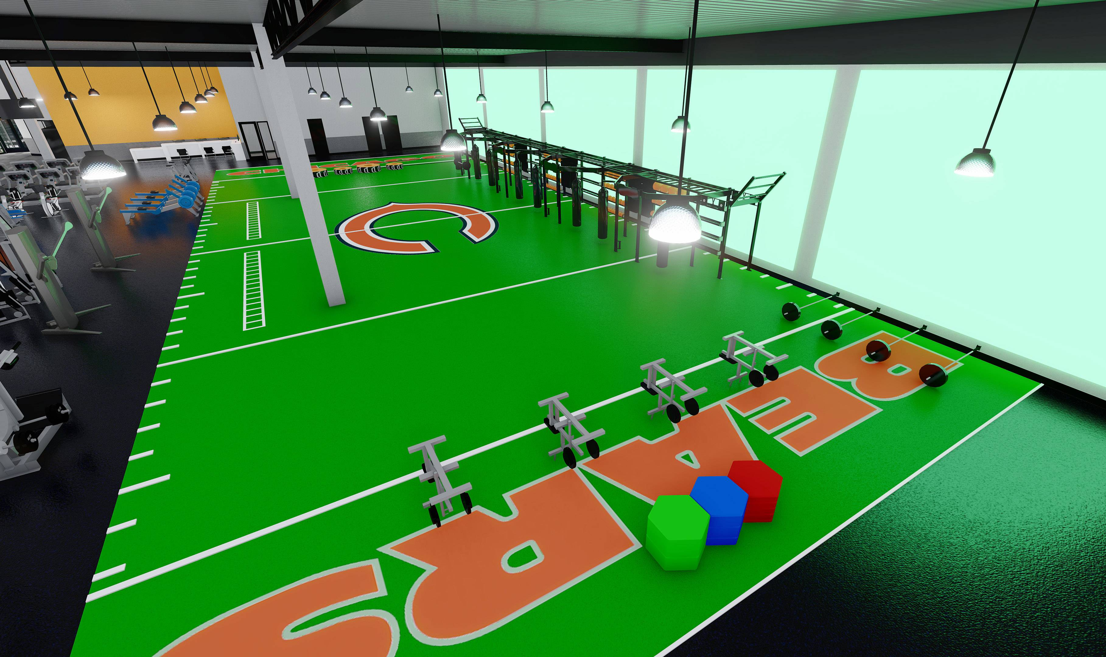 Work begins on Bears-themed fitness center in Vernon Hills