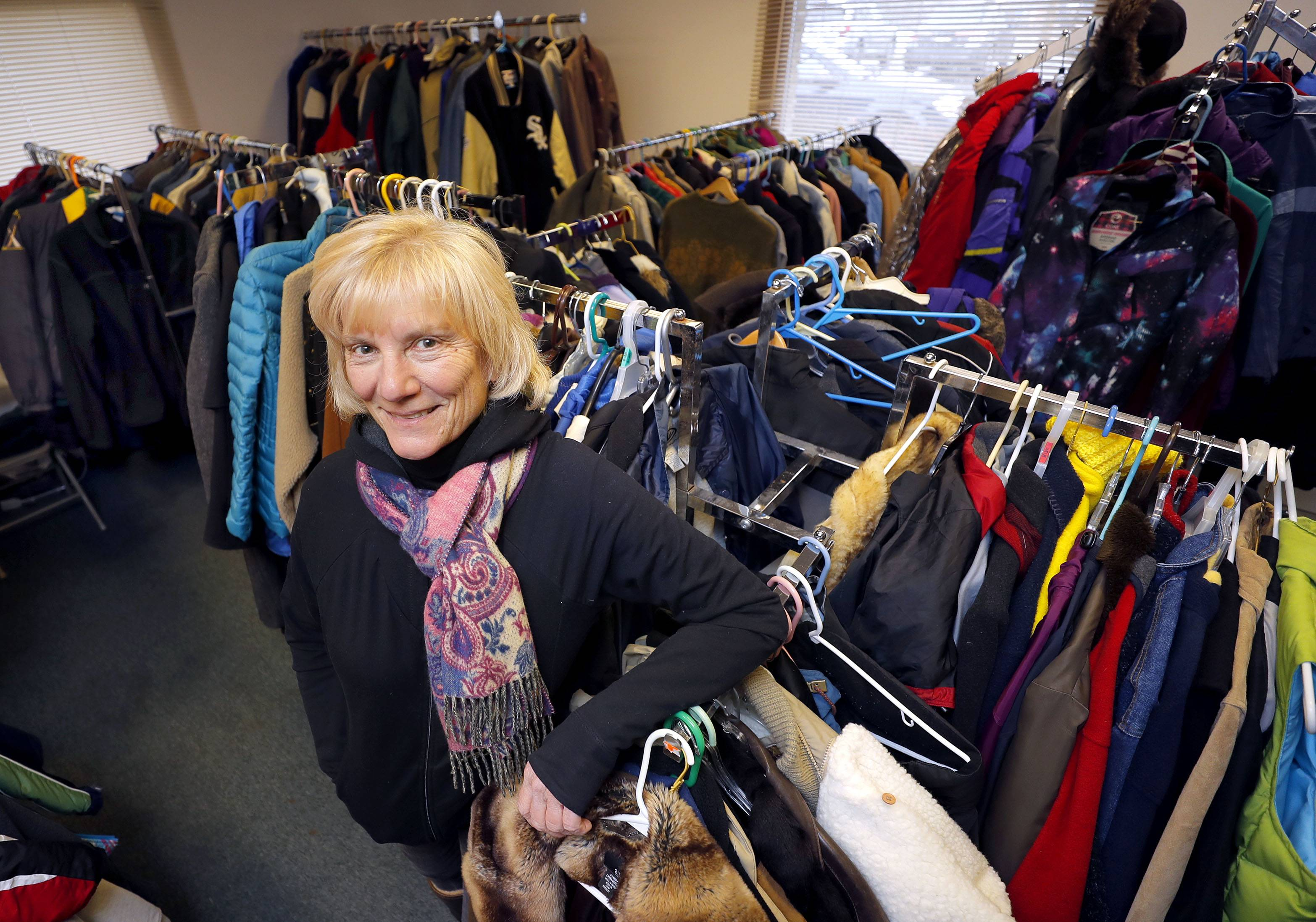 Mary Carmody is executive director of the Midwest Veterans Closet in North Chicago, which helps more than 500 veterans a month by providing free essential items such as coats, clothing, and food.