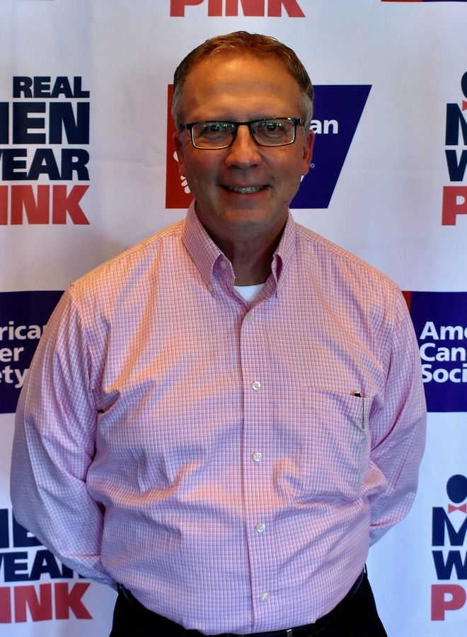 Bruce Hill of Community Bank of Elmhurst raised nearly $4,000 in the month of October for American Cancer Society breast cancer initiatives.