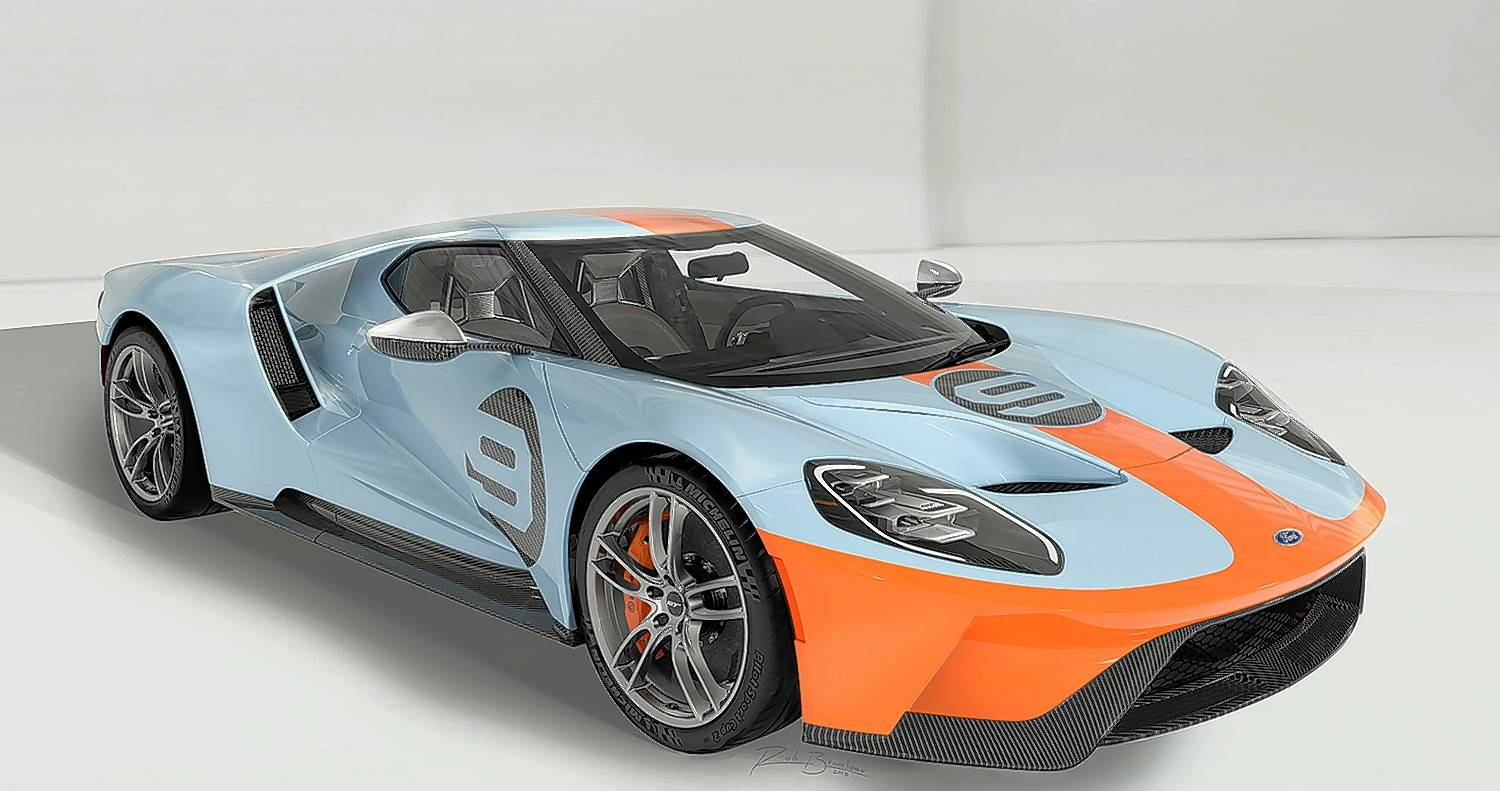 This one-of-a-kind 2019 Ford GT Heritage Edition will be sold for charity at the 48th annual Barrett-Jackson Collector Car Auction in Scottsdale, Arizona, in January.