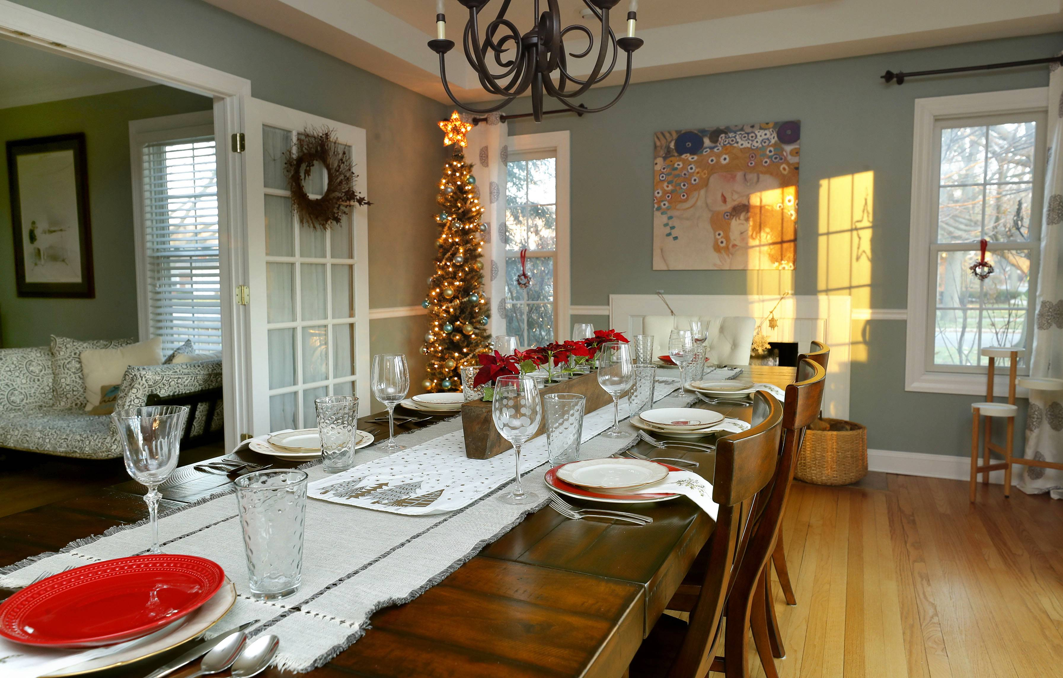 The dining room in Tom and Barb Meier's home. It is one of five houses guests can tour during the annual holiday housewalk.