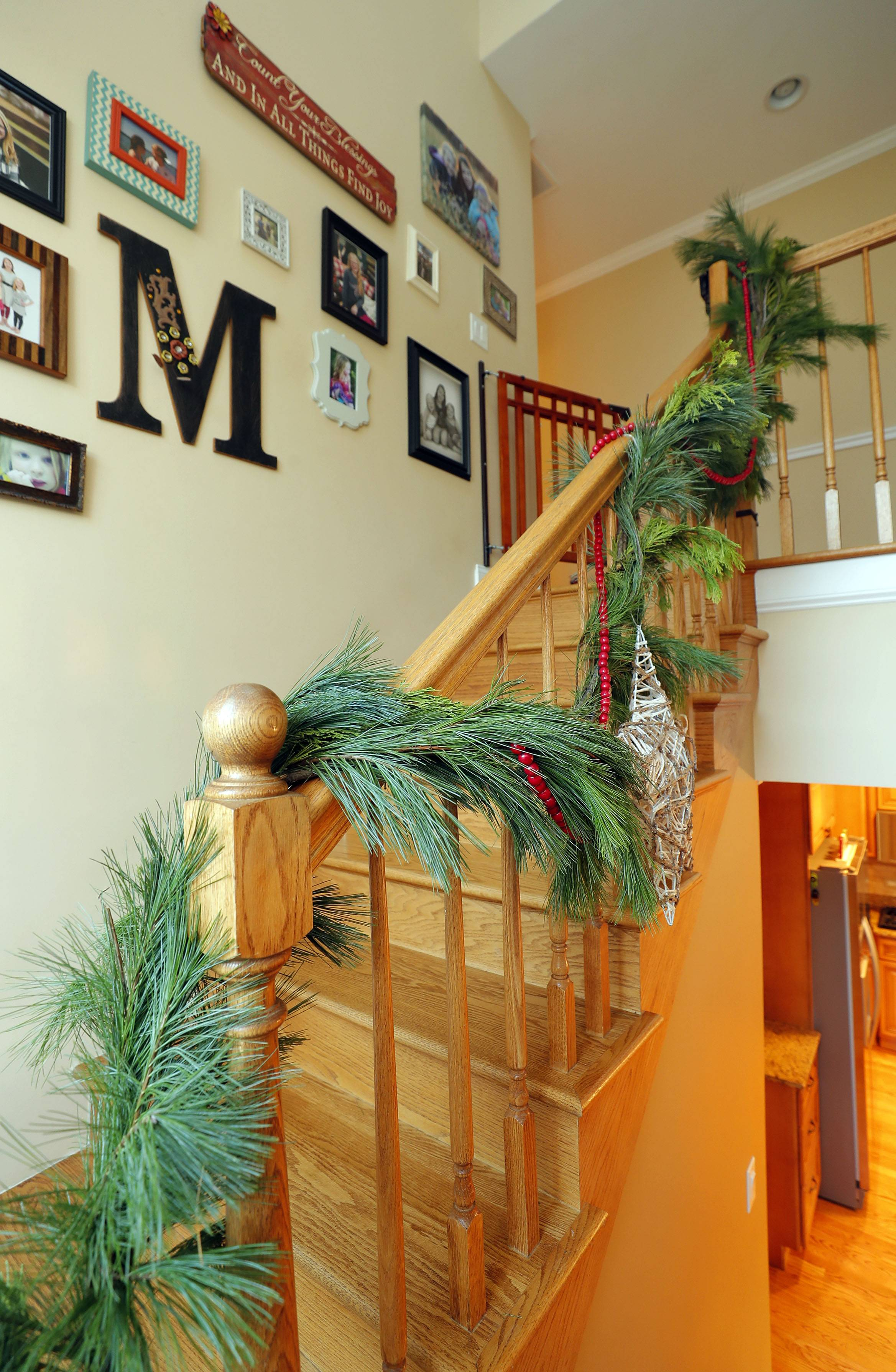 Staircase in Tom and Barb Meier's home, which will be part of the annual Mount Prospect housewalk.