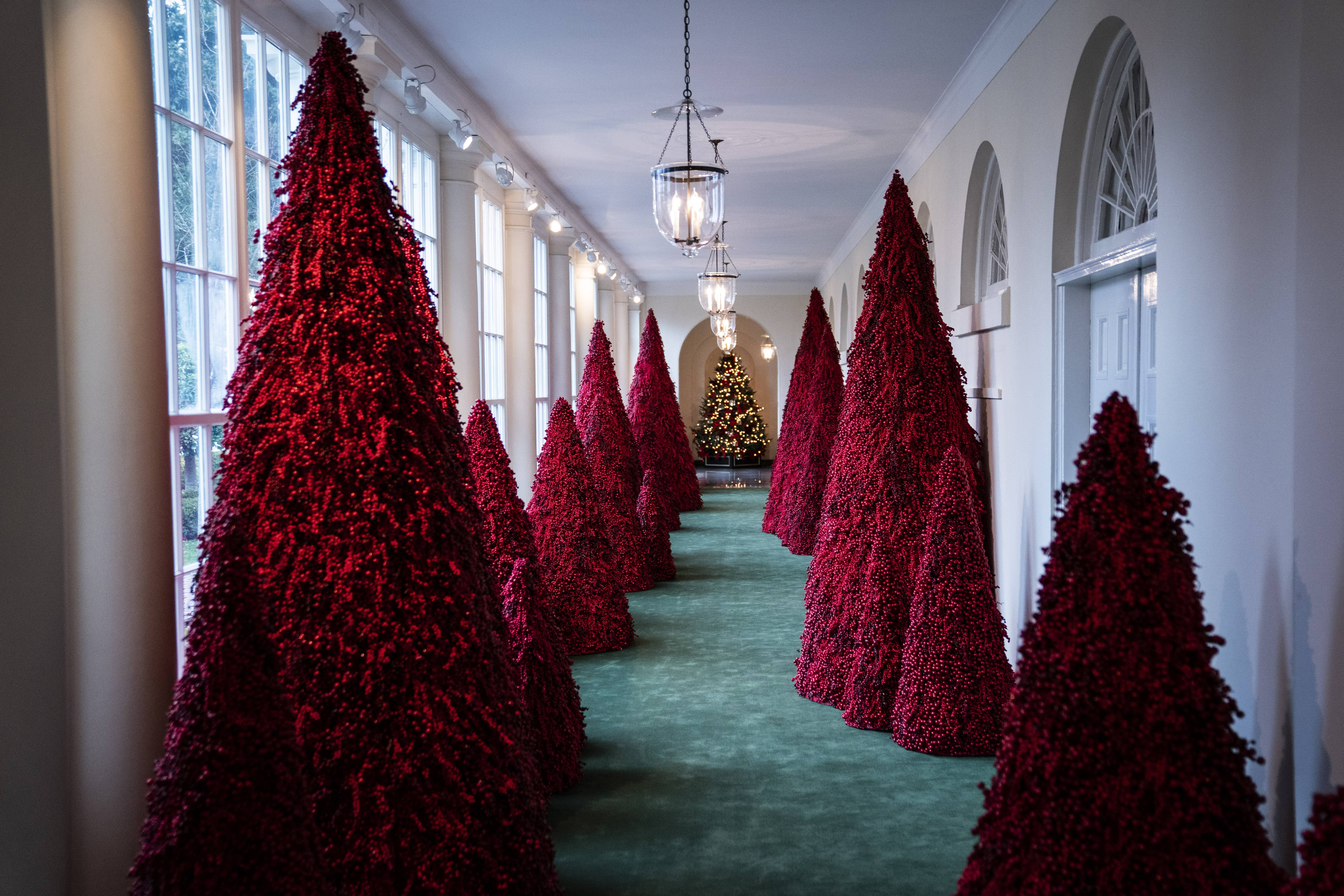 Melania Trump Skips Unveiling Of White House Holiday Decorations To