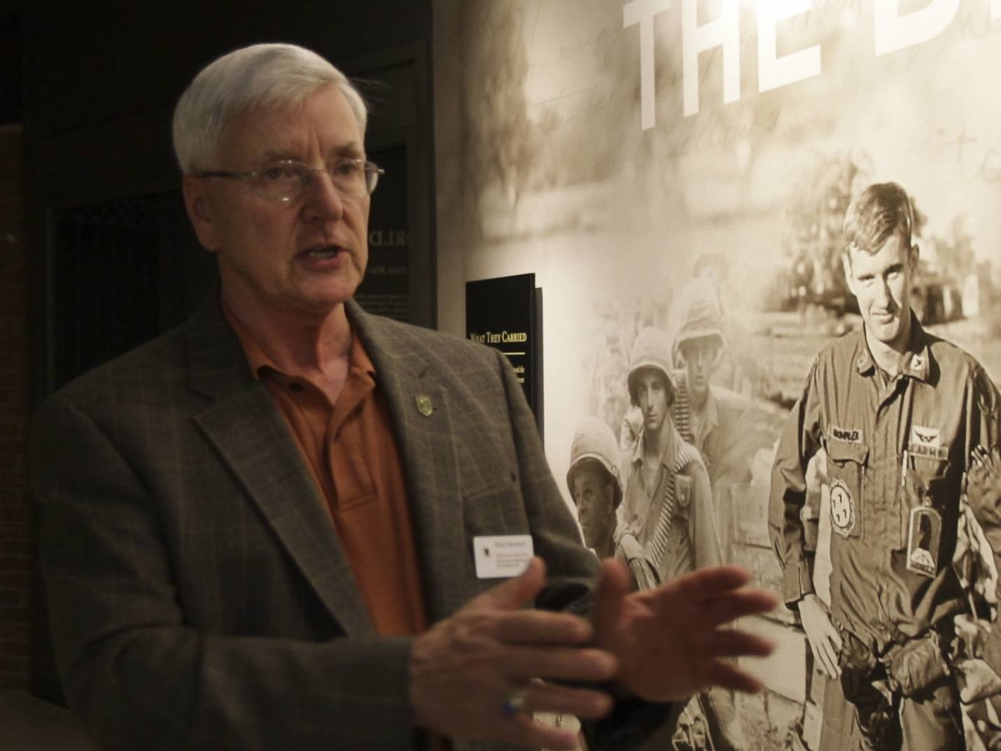 """The guiding ethos was to tell the soldier's story and stories properly with respect and authenticity, and then tie that story to the greater story of the United States and who we are as a society and as a country,"" First Division Museum Executive Director Paul Herbert said of his role."