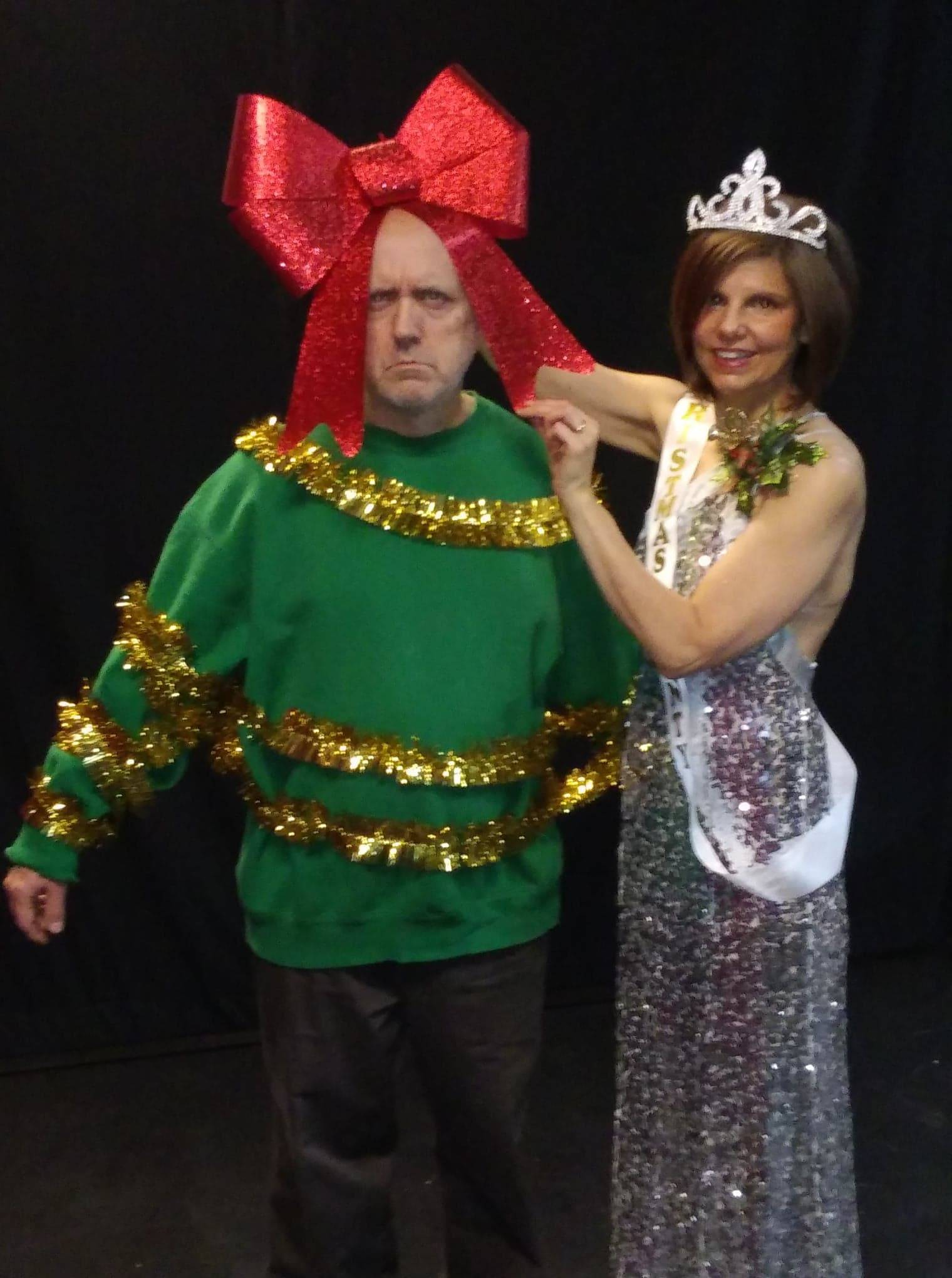 "Douglas (Danny Glenn) and Crystal (Jen Connon) have different reactions to holiday decorating in ""Seasonal Bows."" The original production features six short plays which offer a nontraditional take on the holidays."