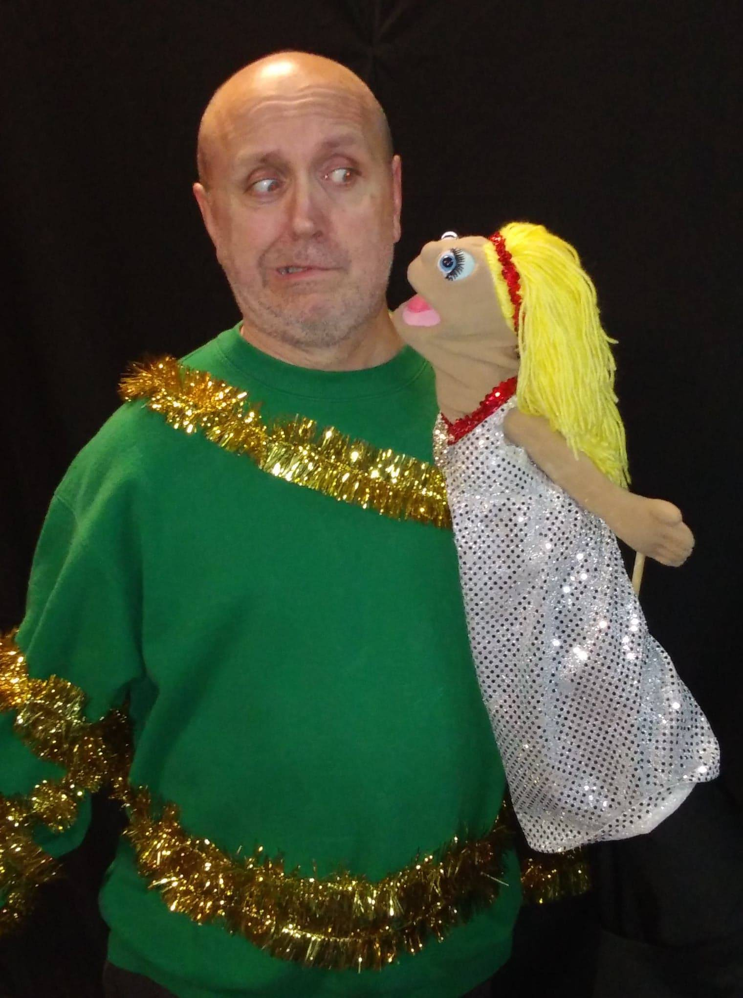 "Douglas (Danny Glenn) is wary of what Lola is sharing with him in ""Seasonal Bows."" The show runs Nov. 30-Dec. 9 at Vero Voce Theater in St. Charles."